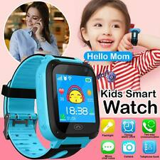 UK Bluetooth Smart Watch GPS GSM Touch Tracker SOS For Kids Children + Camera
