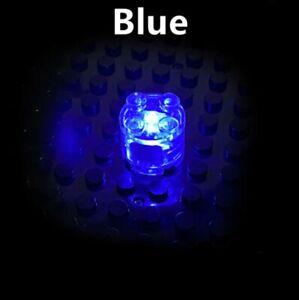 BRICKBUMS CUSTOM ROUND 2X2 BRICK BLUE LED FOR LEGO