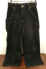 Vtg. 90s JNCO Jeans Black Skull Flame - 28 × 30 - Rare, No Scuffs!