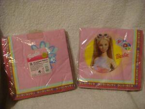 Barbie  birthday napkins in pink 2 x packs 20 napkins