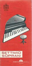 Farfisa - Catalogo Settimio Soprani - Depliant Fisarmoniche Accordeon 1956