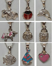 Children's Girl's Kids Jewellery Sterling Silver & CZ Pendant Necklace & Chain