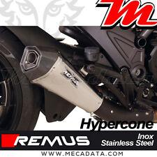 Silencieux échappement Remus Hypercone Inox sans Cat. Ducati Diavel Dark 2014