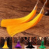 Vintage Women Bohemian Type Golden Hook Earring Long Tassel Drop Dangle Earrings