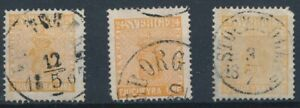 [39898] Sweden 1858/70 Good lot Classical stamps Very Fine used
