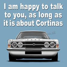 Ford Cortina Mk3 MkIII GT GXL XL Art illustration Drinks Coaster *TALK*