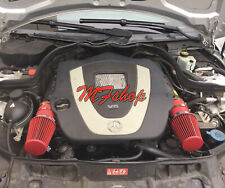 Coated Red For 2008-2012 Mercedes Benz C300 3.0L V6 Air Intake Kit