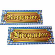 Schild Biergarten aus Papier, 50x20 cm Oktoberfest Bayern Wiesn Deko Apres Ski