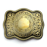 Rare Buckle Men Western Cowboys Vintage Engraved Bronze Pattern Belt Buckle