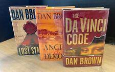 Dan Brown First Editions Da Vinci Code, Angels & Demons, The Lost Symbol HBDJ