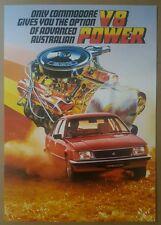 1983 Holden Commodore V8 original sales brochure