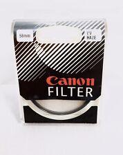 Canon UV Haze 58mm Camera Lens Filter New Sealed Box