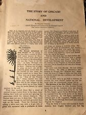 The Story Of Chicago National Development  1534 To 1910 Pages To 116