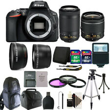 Nikon D5600 24.2 MP D-SLR Camera + 18-55mm & 70-300mm Lens + 24GB Accessory Kit