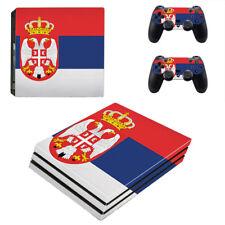 Playstation 4 Pro Konsole Designfolie Skin Schutzfolie Folie Sticker Serbien