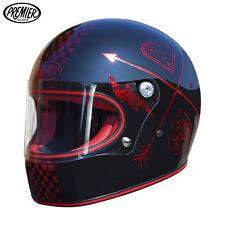Casco Integrale Premier TROPHY NX RED CHROMED taglia M Cafe racer