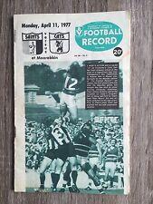 1977 VFL AFL football record St Kilda Saints V Geelong Cats April 11 1977