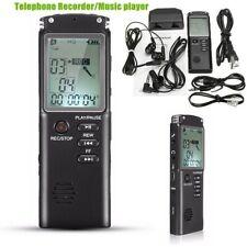 8GB LCD Grabadora de Voz USB Grabador De Audio Digital Portátil Con Micrófono
