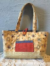 Quilted tea tote bag/purse