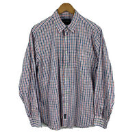 Gazman Mens Button Up Shirt Size Medium Multicoloured Plaid Long Sleeve Collared