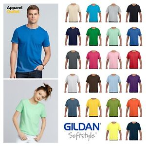 Gildan Softstyle Ringspun Cotton T-Shirt - Adult Men's & Kids Sizes
