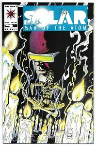 Solar Man of the Atom 21 Signed Kevin VanHook Carol VanHook Autographed Valiant