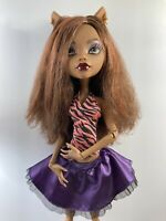 """Monster High - Frightfully Tall - 17"""" Clawdeen Wolf - Used"""
