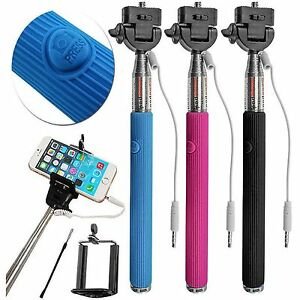 Universal Extendable Handheld Remote Shutter Monopod Selfie Stick iPhone Samsung
