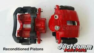 COMMODORE VT VX VY VZ RECONDITIONED REAR BRAKE CALIPERS ( Reco Pistons )- RED