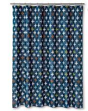 Sabrina Soto Blast Off Fabric Shower Curtain 72x72 Teal Multi New