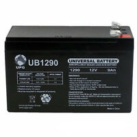 UPG 12V 9AH SLA Battery Replaces CP1290 6-DW-9 HR9-12 PS-1290F2