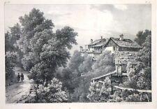 """Lithographie de LOUIS VILLENEUVE, """"Vue d'une partie du village de Saint Gervais"""""""