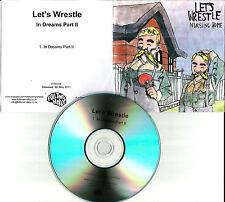 LET'S WRESTLE In dreams part II TST PRESS 2011 UK PROMO DJ CD single USA SELLER