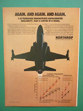 3/1984 PUB NORTHROP F-20 TIGERSHARK US AIR FORCE ORIGINAL AD