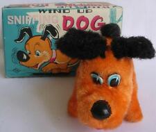 Wind Up Sniffing Dog Puppy Toy Walks Sniffs 1950's Mib T.N. Japan