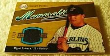 MIGUEL CABRERA 2007 UPPER DECK SWEET SPOT LOGO JERSEY PATCH #SW-MC SERIAL #17/25
