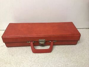 Vintage 70s 80s Small Size Retro Red Cassette Tape Carry Case Storage Box