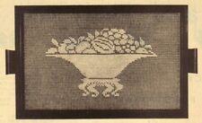 New listing Vintage Fruit Tray Filet Doily/Crochet Pattern Instructions Only