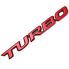 RED TURBO LETTER ENGINE RACE MOTOR SWAP EMBLEM BADGE FOR TRUNK HOOD DOOR