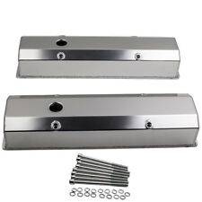For Small Block 1958-1986 SBC Chevy 350 Fabricated Long Bolt Valve Covers Satin