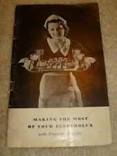 Making The Most Of Your Electrolux Recipe Booklet - 1932