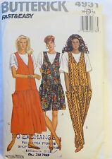 BUTTERICK Sewing Pattern NO.4931 LADIES DRESS SHORTS & PANTS SIZES 14-16
