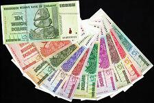 50 Million to 10 Trillion Dollars Set 10 Bank Notes w/ Billion 100 & 500 Million