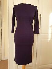 Ladies Purple WAREHOUSE Textured JERSEY DRESS SIZE 10 small 12