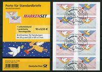 Bund 5 x 2827 - 2828 SK Folienblatt FB 12 gestempelt ETST Bonn BRD used