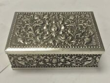 Antique Cigarette Box/ Humidor Repousse