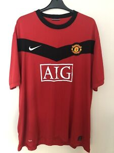 Vintage Manchester United Home  Football Shirt 2009-2010   Nike *Size XXXL