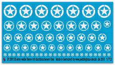 1/72 EP 2092 US Army Stars White with Open Circle