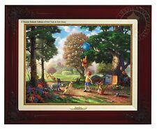 Thomas Kinkade Winnie The Pooh II Canvas Classic (Brandy Frame)