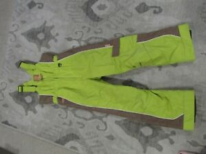 Obermeyer Kids Ski Bibs Overalls Snow Pants Size 8 Unisex Boy Girl Green I Grow